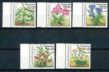 Bundespost 1505 - 1509 gestempeld (1)  Bloemen