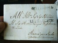 1826 PREFILATELICA DA BOLOGNA SU ELEZIONE DEL MEDICO CONDOTTO DI SIROLO
