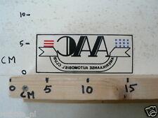 STICKER,DECAL AAC AMERIKAANSE AUTOMOBIELCLUB WINDOW