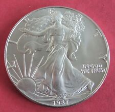 More details for usa 1987 $1 .999 silver eagle