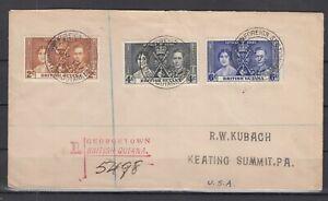 EJ9642/ BRITISH GUIANA – CORONATION - SG # 305 / 307 COMPLETE ON FDC