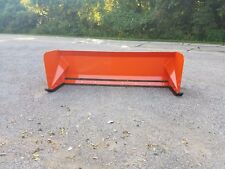 8' Kubota Orange skid steer snow pusher box Free Shipping skid steer Bobcat Case