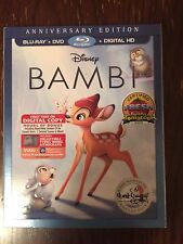 Bambi: The Disney Signature Collection (Blu ray/DVD, Digital HD) 2017, W/Slip