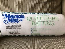 "Mountain Mist Quilt Light 100% Polyester Batting 90"" x 108"" Glazene Finish"