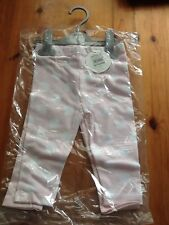 PACK OF 2 BHS 6-9 MONTHS LEGGINGS PALE PINK BRAND NEW WITH TAGS