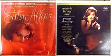 LOT (2) LPs GEORGE SHEARING Satin Affair T-1628/CONCERTO FOR MY LOVE ST-1755