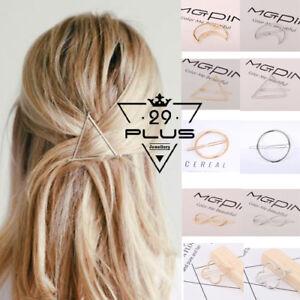 Fashion Hair Clip Triangle Moon Infinity Circle Hair Pins Barette Accessories Au