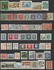 66 OLD & NEW.....CANADIAN STAMPS INCLUDING 1x NEW FOUNDLAND..GOOD USED CONDITION