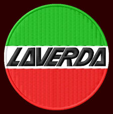 """LAVERDA EMBROIDERED PATCH ~3"""" MOTORCYCLE 750 SF 1000 RGS GAS ATLAS OIL STRIKE"""