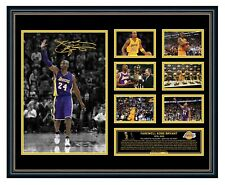 KOBE BRYANT 1978-2020 LA LAKERS SIGNED PHOTO FRAMED MEMORABILIA