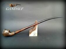 "WOODEN TOBACCO SMOKING PIPE Gandalf Lotr Hobbit 84 CHURCHWARDEN LONG 14"" Brown"