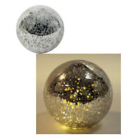 LED Crinkle Glaskugel Weihnachtsschmuck Lichtkugel Weihnachtsdeko Glaskugel