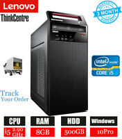 Lenovo Thinkcentre M73 i5-4460S 2.90GHz 500GB Tower 8GB Win 10 Pro Business PC