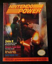 Zelda II, The Adventure of Link NES 1989 Nintendo Power Magazine Vol. #4  Nice