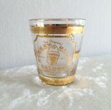 Bucket of Blood Saloon Virginia City Nevada 22K Culver USA Shot Glass Barware