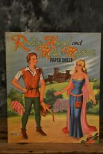 1956 Artcraft Robin Hood & Maid Marian Paper Doll Activity Book W/ Free Shipping