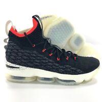 Nike Lebron XV 15 Black Sail White Bright Crimson AQ2363-002 Men's 14