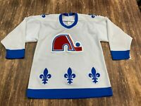 VTG Peter Stasny Quebec Nordiques White CCM NHL Hockey Jersey - Medium