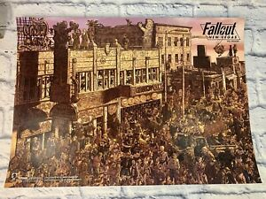 Rare 2010 Fallout New Vegas All Roads Poster Lithograph Geof Darrow Art 24 x 17