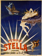 PETROLE STELLA, 1897 Vintage Advertising Giclee Canvas Print 31x40