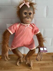 Ashton Drake Annabelle's Hugs Lifelike Newborn Baby Monkey Doll 22 inches Reborn