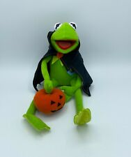 Rare With Tags Halloween Muppets Kermit the Frog Dracula Pumpkin Plush