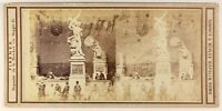 Loggia Dei Lanzi Firenze Italia Foto Stereo PL55L4n Vintage Albumina c1865