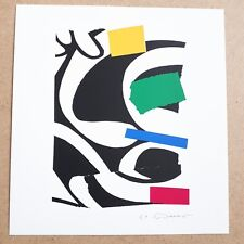 Wolf Bauer ORIGINAL SIGNED LITHOGRAPH PRINT  German textile artist abstract