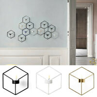 3D Geometric Candlestick Metal Wall Candle Holder Sconce Home Decor EB J GT