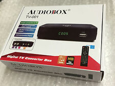 brand new audiobox tv-001 digital tv converter box w hdmi/usb rca complete