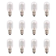 15 Watt Incandescent Bulbs Salt Lamp Replacement Bulbs E12 Socket 12 pcs/pack