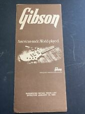 More details for 1984 gibson guitar / bass price list, usa case candy