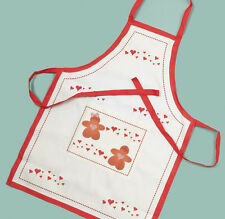 GINGERBREAD CHARACTER AND HEARTS ADULT SIZE APRON KITCHEN TEXTILE