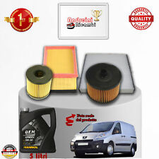 Replacement Filter Kit + Oil Peugeot Expert II 2.0 HDI 100KW 136hp from 2007 ->