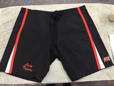 Hockey Pant Shell Custom Pattern, Black Orange White, Size Large With Logo