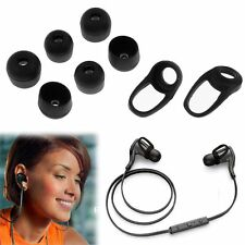 6x Replace Ear Tips+2 Earbud for PLANTRONICS Backbeat GO Bluetooth Headset Black