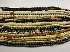 "25 Strands 14"" - 15"" India Handmade Water Buffalo Bone Beads Wholesale Lot (B-2)"