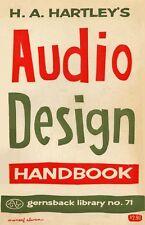 Audio Design Handbook by H.A. Hartley (1958) Gernsback Library No. 7 - CD