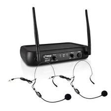 Pyle PDWM2145 VHF Wireless Microphone System w/ 2 Lavaliers & 2 Headsets