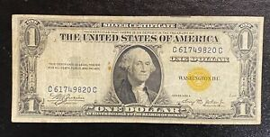 1935 A North Africa $1 Silver Certificate Yellow Seal