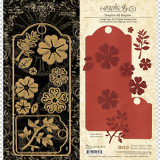 Graphic 45 Large Tag and Flower Metal Cutting Die Scrapbooking Papercrafts