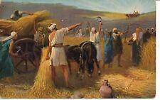 Judaica 1930's Bible Return Of Ark Of Covenant P/Card