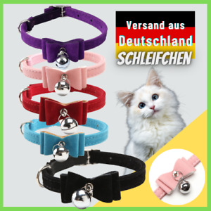 Cat Collar With Bell Bow Fleece Stretch Band for Cats And Dog