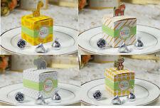 50XGiraffe/elephant/monkey/tiger animals Baby Shower Birthday/Wedding favors Box