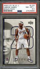 2005 Upper Deck LeBron James Bonus Pack #LJ33 PSA 8.5 NM- MINT+. POP 1. 0 higher