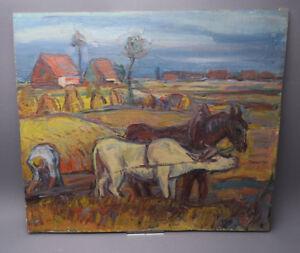 Ida Maria Bauerreiss aus Augsburg Ölgemälde auf Holzplatte beidseitig bemalt