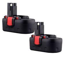 2pcs 18V 2000mAh Ni-CD Replace BATTERY for Bosch 18 Volt Cordless Drill