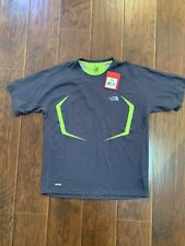 The North Face Mens Exercise Vapor Wick Size M Grey/neon Green