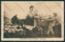 Palermo Costumi Siciliani Asino cartolina QQ0799