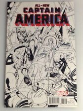 ALL NEW CAPTAIN AMERICA #1 STAN LEE COLLECTABLES SKETCH VARIANT BY CAMPBELL